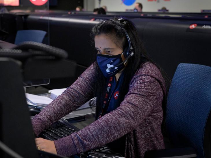 नासा के कैनेडी स्पेस रिसर्च सेंटर में डॉक्टर स्वाति मोहन। (फाइल)