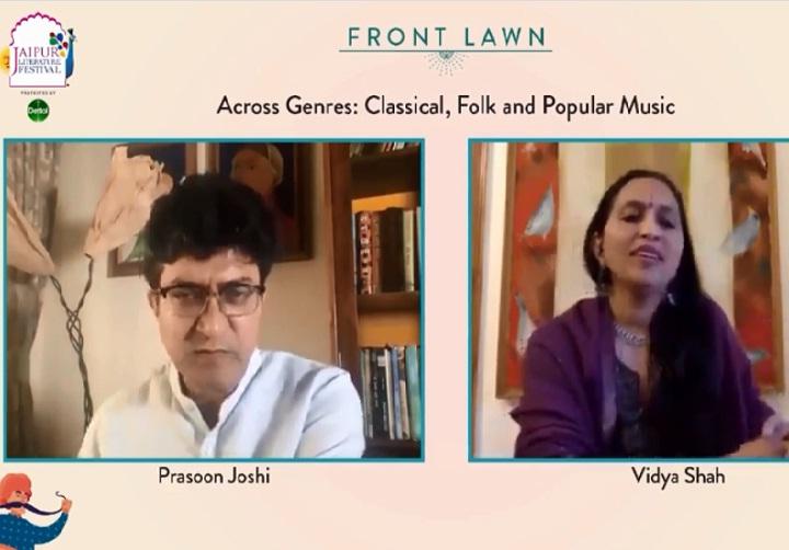 प्रसून जोशी ने कहा- लोक संगीत बार-बार सुनने के बावजूद पुराना नहीं पड़ता, यह वह पत्थर है जो बेहद तराशा हुआ है|जयपुर,Jaipur - Dainik Bhaskar