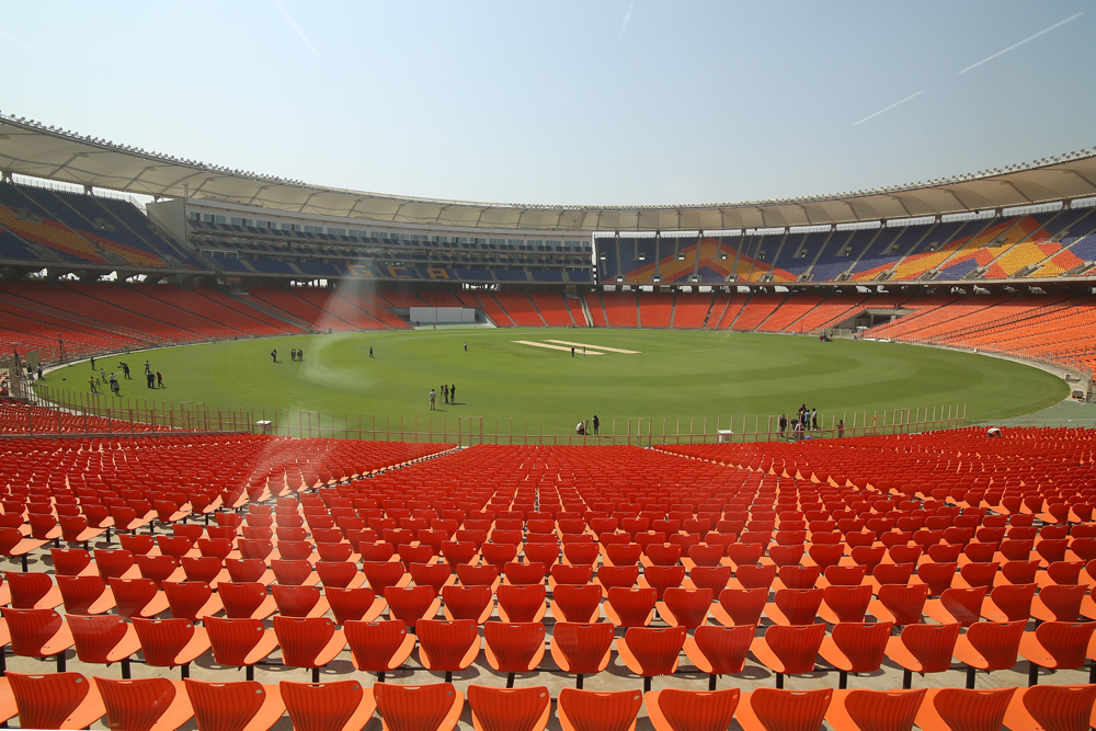 Motera Stadium is ready for spectators again.