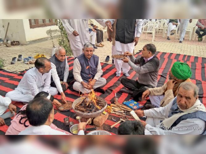 दादा घासीराम मलिक की जयंती पर किया हवन, किसान आंदोलन का समर्थन किया रोहतक,Rohtak - Dainik Bhaskar