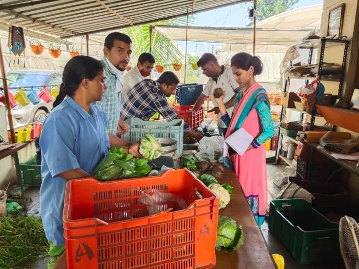 ज्ञानेश्वर लोकल मार्केट्स में अपने प्रोडक्ट्स की सप्लाई करते हैं। साथ ही वे खुद भी स्टॉल लगाकर सब्जियां बेचते हैं।