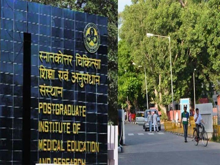 24 लाख मरीज कम देखे गए चंडीगढ़ के तीन अस्पतालों में, रोजाना 12 हजार मरीजों से 3000 पर पहुंचा पीजीआई|चंडीगढ़,Chandigarh - Dainik Bhaskar