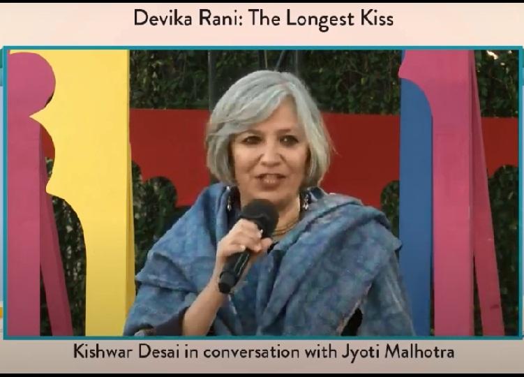 Moderator of the session Jyoti Malhotra.