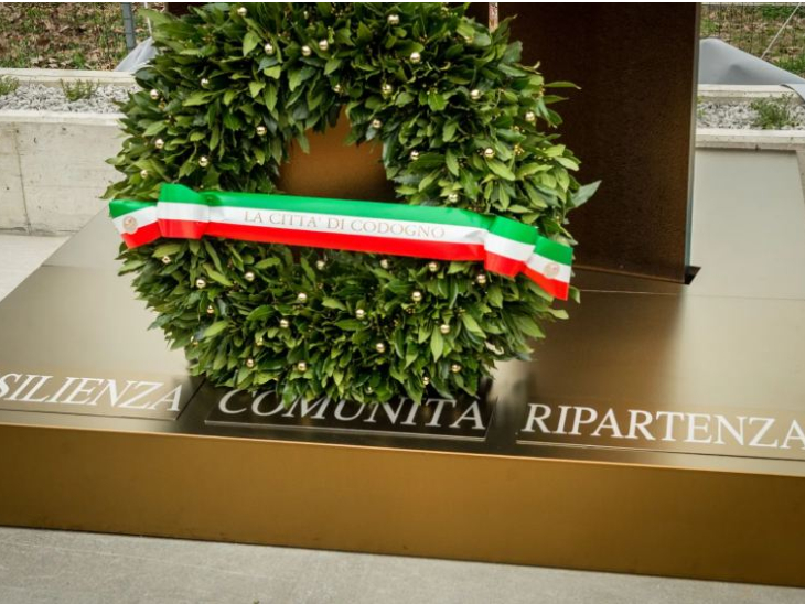 A memorial has been built in Italy for those who lost their lives due to Covid-19.
