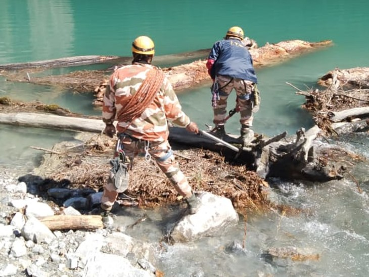 The ITBP and SDRF teams are constantly monitoring the lake.