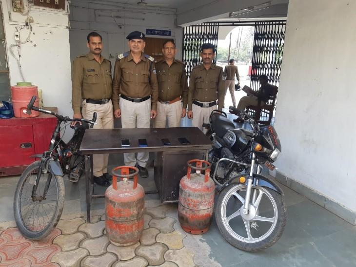 10 दिन पहले जेल से छूटकर आए थे, जुआ खेलने का शौक पूरा करने करते थे वारदात|ग्वालियर,Gwalior - Dainik Bhaskar