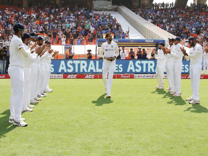 फोटोज में नरेंद्र मोदी स्टेडियम का रोमांच:दुनिया के सबसे बड़े क्रिकेट स्टेडियम में भारत-इंग्लैंड डे-नाइट टेस्ट शुरू; राष्ट्रपति कोविंद ने इशांत को किया सम्मानित