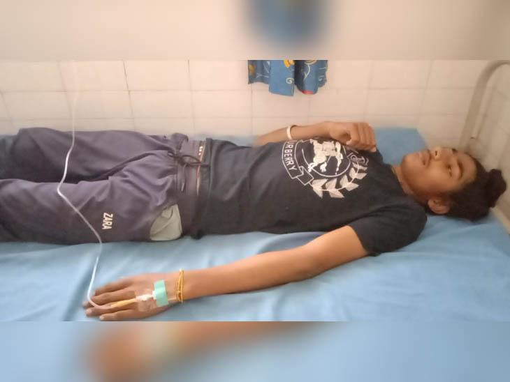 अस्पताल में भर्ती हादसे में घायल