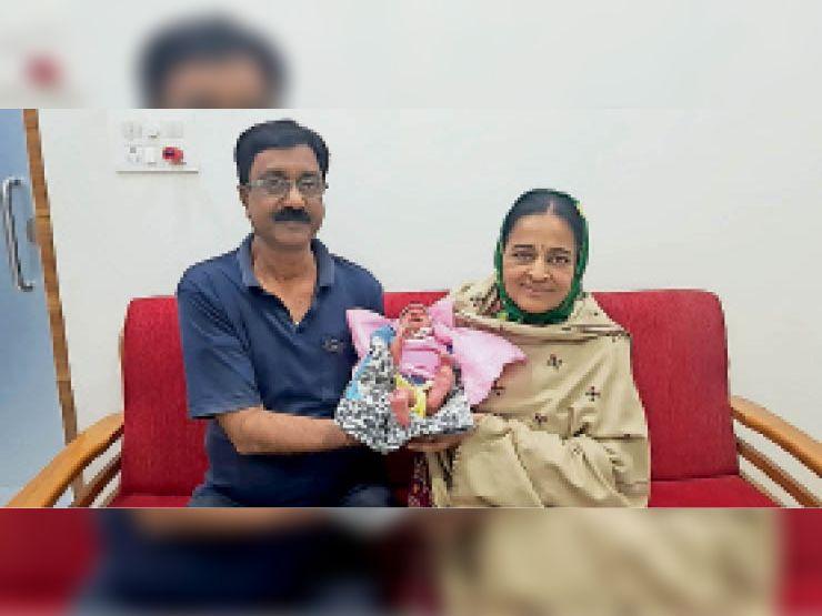 56 साल की उम्र में आईवीएफ तकनीक से मां बनी मेघनगर की चेतना|झाबुआ,Jhabua - Dainik Bhaskar