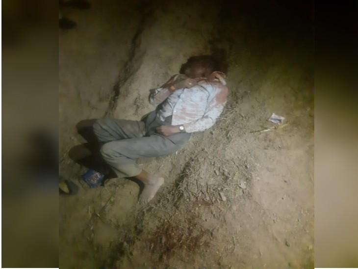 लापता किसान का शव तालाब के पास पड़ा मिला, हत्या करने वालों ने साफी से गला घोंटकर सिर पर पटका पत्थर|ग्वालियर,Gwalior - Dainik Bhaskar