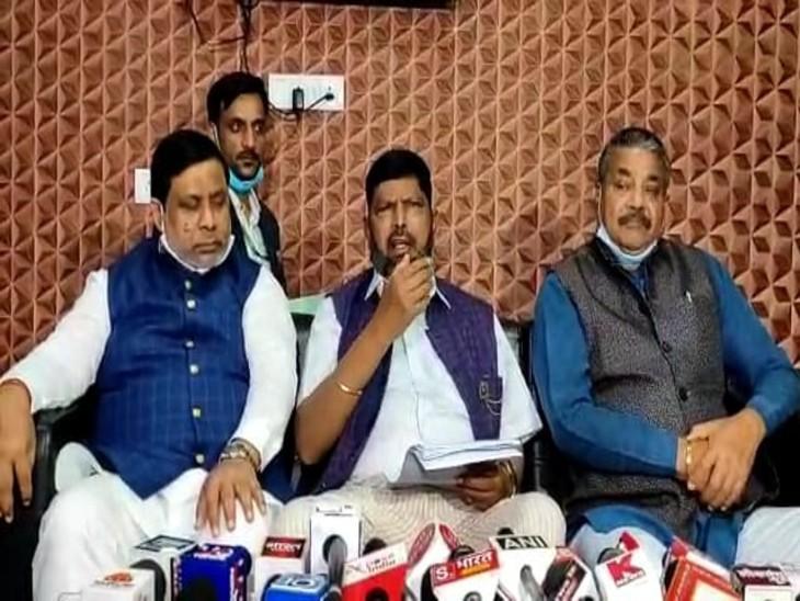 अठावले का राहुल पर निशाना: केंद्रीय मंत्री रामदास अठावले बोले- जब तक राहुल हैं कांग्रेस का भुल नहीं होगा;  क्षत्रियों काे आरक्षण की वकालत की
