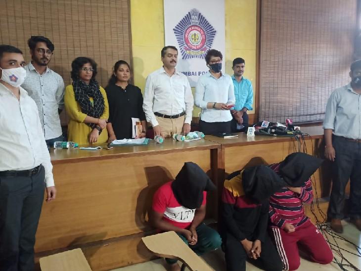 आरोपियों को शनिवार को मीडिया के सामने पेश किया गया।