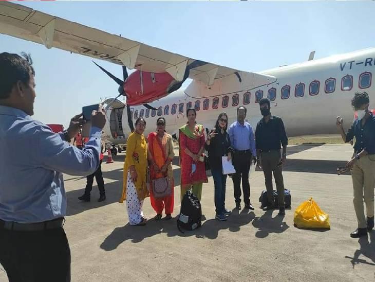 जबलपुर-बिलासपुर हवाई संपर्क से जुड़े: एलायंस एयर की 70 सीटर विमान ने भरी पहली उड़ान, वैटरटन से फ्लाइट को सैल्यूट, प्रयागराज भी होगी