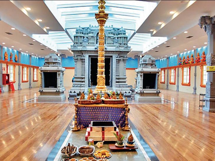 मेलबर्न का श्रीवक्रतुंड विनयगर मंदिर भारत से बाहर पृथ्वी के दक्षिणी गोलार्द्ध का एकमात्र मंदिर है, जिसे ग्रेनाइट पत्थर से तैयार किया गया है। - Dainik Bhaskar