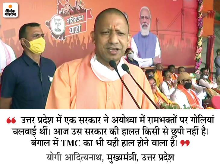 UP CM Yogi Adityanath LIVE | Yogi Adityanath Rally In West Bengal Malda Latest News and Update | योगी बोले- बंगाल की बदहाली देखकर पूरा देश दुखी; जो राम द्रोही हैं उनका भारत और बंगाल में कोई काम नहीं