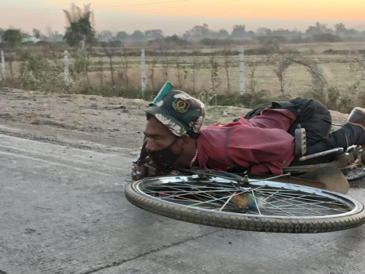 छत्तीसगढ़ के बिलासपुर में किसी वाहन से कुचलकर सुरक्षा गार्ड की मौत हो गई। - Dainik Bhaskar