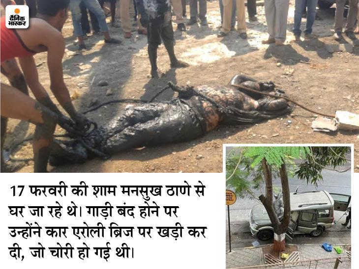 जिसकी कार में विस्फोटक रखा था, उस व्यापारी का शव मिला; पुलिस ने खुदकुशी का दावा किया पर मुंह पर बंधे थे 5 रूमाल|देश,National - Dainik Bhaskar