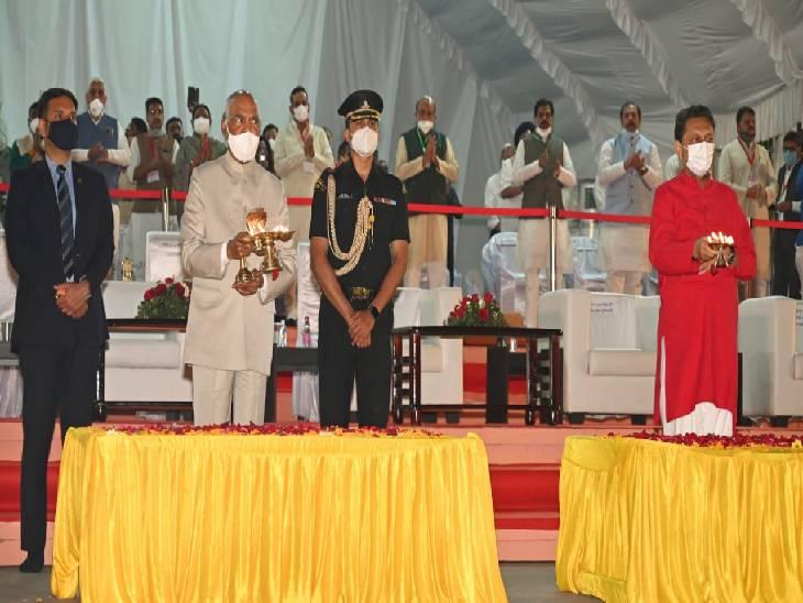 पहले राष्ट्रपति बने रामनाथ कोविंद, मां नर्मदा की आरती और नर्मदा अष्टक पर भक्ति भाव में डूबे नजर आए|जबलपुर,Jabalpur - Dainik Bhaskar