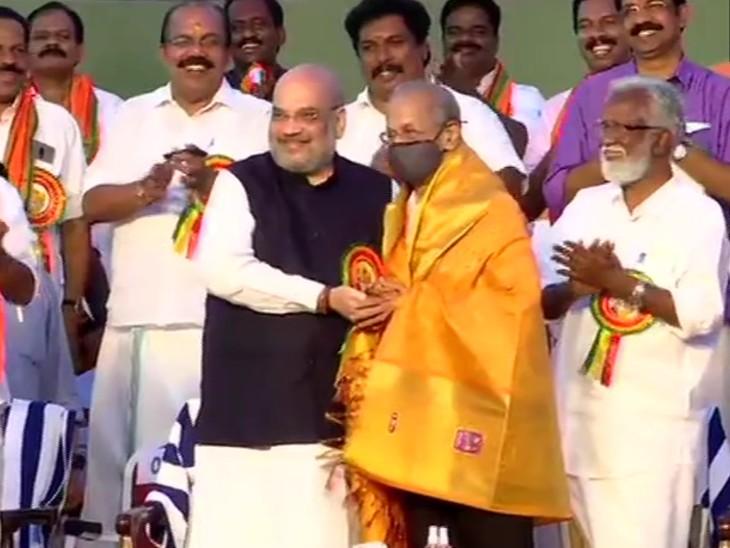 गृह मंत्री ने केरल सरकार से 1 लाख 56 हजार करोड़ का हिसाब मांगा, 29 मठों के साधु-संतों से मिलकर 51% हिंदू वोटर्स को साधने की कोशिश देश,National - Dainik Bhaskar