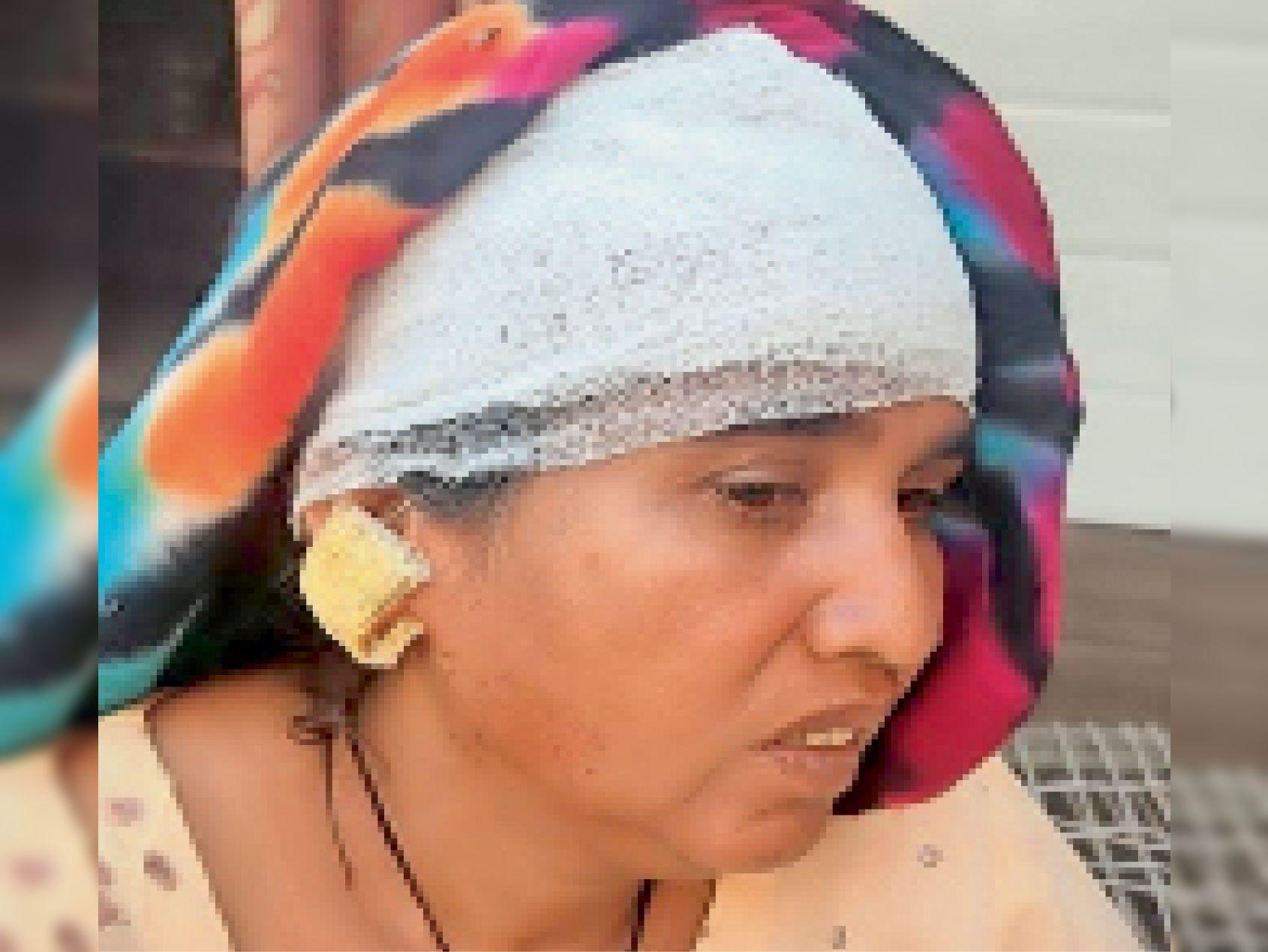 9 दिन में चौथी वारदात, नंबरदार की पत्नी से लूटी सोने की बाली; कान फटने से लहूलुहान|पानीपत,Panipat - Dainik Bhaskar