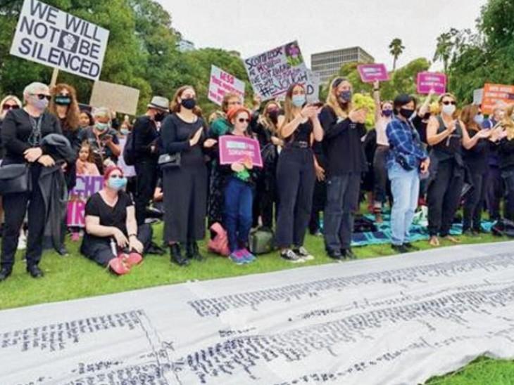 ऑस्ट्रेलिया के 40 शहरों में असमानता और यौन हिंसा के खिलाफ मोर्चा खोला; 85 हजार महिलाओं ने मार्च फॉर जस्टिस निकाला|विदेश,International - Dainik Bhaskar