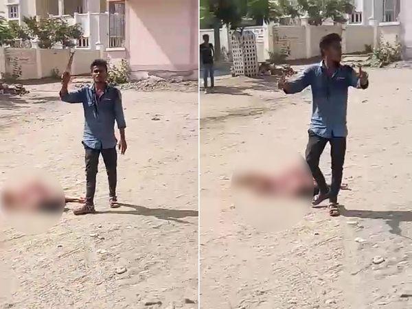 गुजरात में ऑनर किलिंग:भाई ने बड़ी बहन को सड़क पर मौत के घाट उतारा; मौके पर मौजूद लोगों से कहा- अफेयर था, इसलिए मार दिया