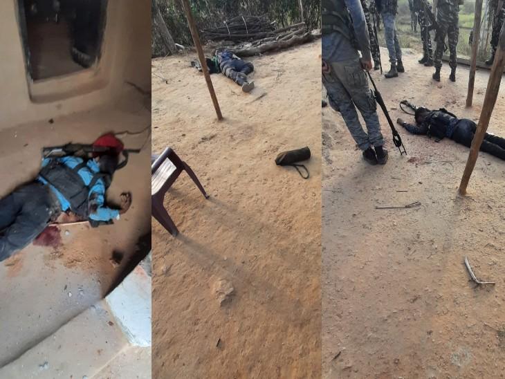घर की आड़ में छिपे थे नक्सली, कोबरा बटालियन ने हथियार डालने की चेतावनी दी; नहीं माने तो एक-एक कर मारे गए|बिहार,Bihar - Dainik Bhaskar