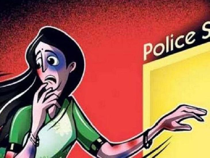 बिलासपुर में काफी देर से बैठी पड़ोसन को महिला ने जाने के लिए कहा, तो पति के साथ मिलकर लात-घूंसों से पीटा|बिलासपुर,Bilaspur - Dainik Bhaskar