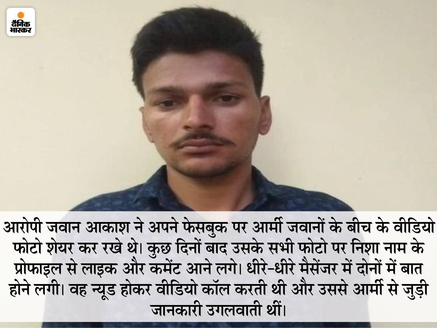 फेसबुक में कर रखा था जाट रेंजिमेंट का जिक्र, 3 पाकिस्तानी एजेंट्स करती थीं बात; एक खुद को भारतीय आर्मी अफसर की बेटी बताती थी|सीकर,Sikar - Dainik Bhaskar