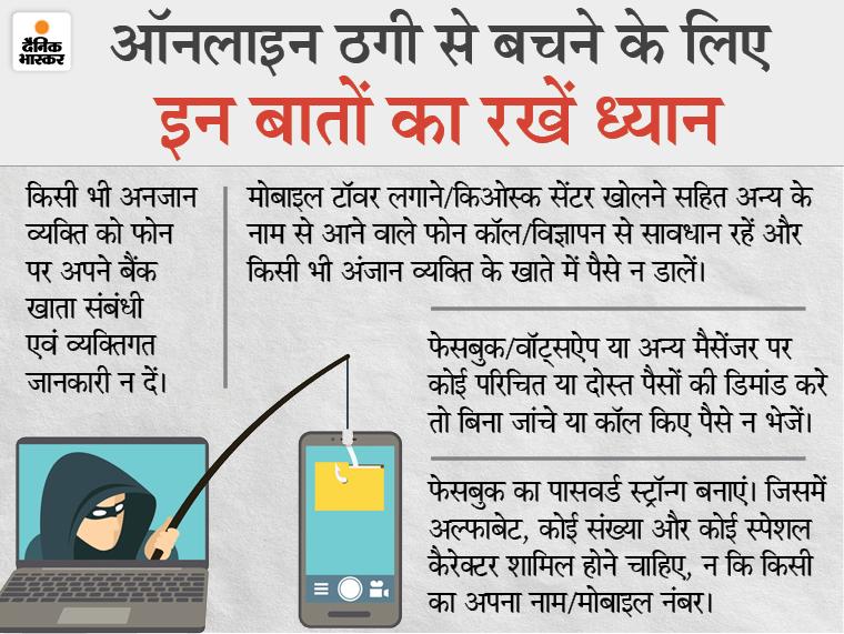 कांस्टेबल की मोबाइल पर दूसरीडोज लगाने का मैसेज आया, लिंक पर जानकारी भरते ही खाते से 3 लाख रुपए उड़े|रीवा,Rewa - Dainik Bhaskar