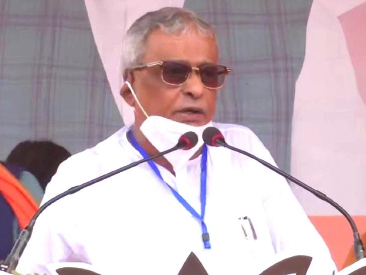 शुभेंदु के पिता शिशिर अधिकारी भी बीजेपी में शामिल, जय सिया राम और जय भारत के नारे लगाए|देश,National - Dainik Bhaskar