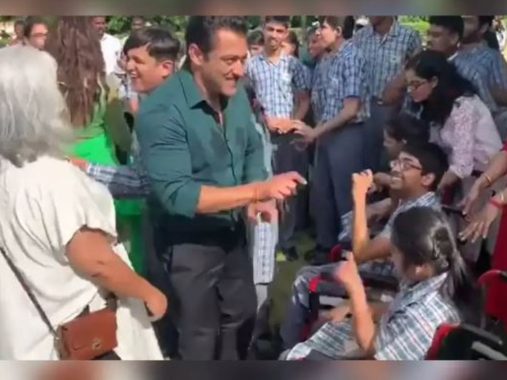 Salman Khan throwback video where he dances energetically with special kids, fans say – God in heaven, Salman on earth
