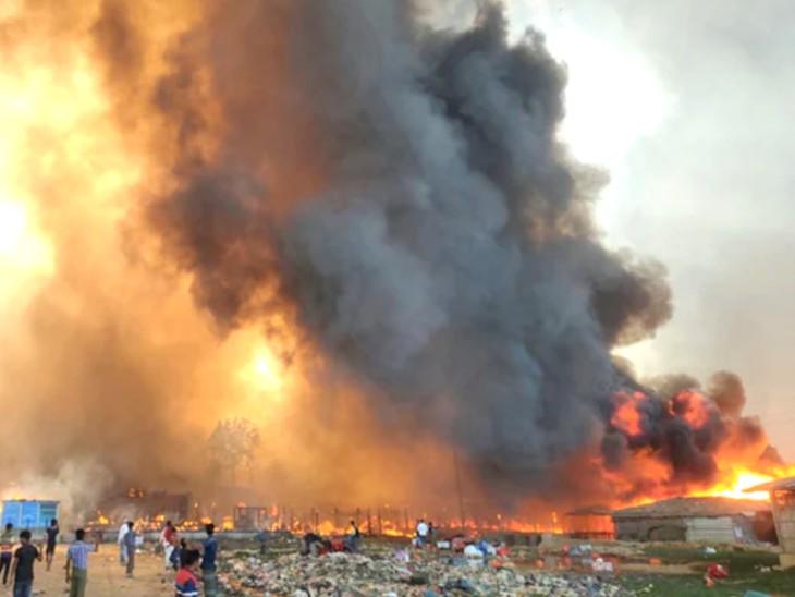 दुनिया की सबसे बड़ी रोहिंग्या बस्ती में हजारों घर जलकर खाक; 15 लोगों की मौत, 400 से ज्यादा लापता|विदेश,International - Dainik Bhaskar