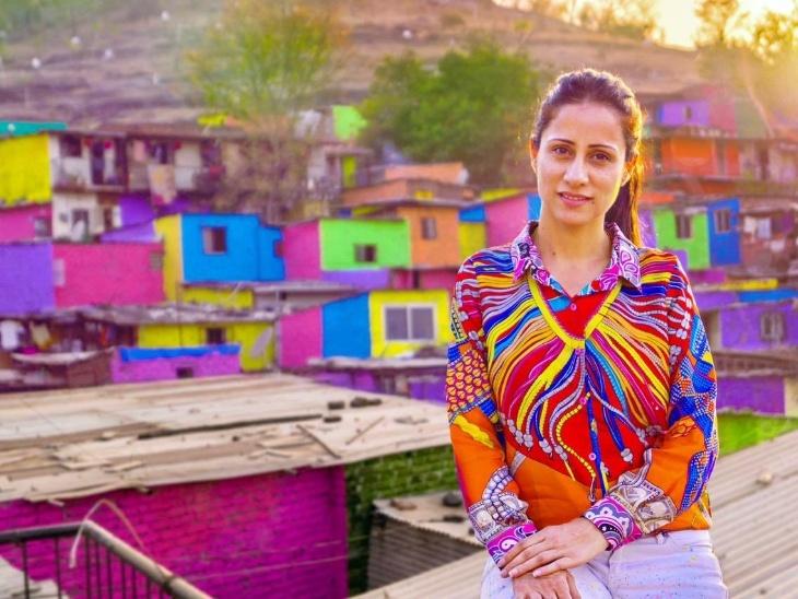 मुंबई की रूबल नेगी का मिसाल मुंबई अभियान, महाराष्ट्र के 30 झुग्गी-बस्तियों की तस्वीर बदली, धारावी के 150,000 घरों को पेंट कर बढ़ाई सुंदरता|लाइफस्टाइल,Lifestyle - Dainik Bhaskar