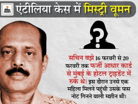 सचिन वझे के खिलाफ NIA ने लगाया UAPA; वझे की सोसाइटी से CCTV फुटेज जब्त करने वाला पुलिस अधिकारी काजी सरकारी गवाह बना|महाराष्ट्र,Maharashtra - Dainik Bhaskar