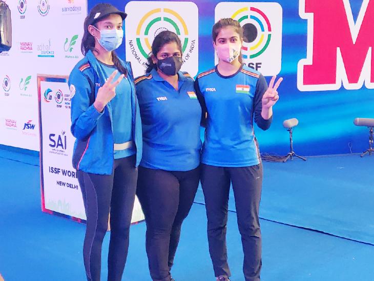 चिंकी ने दूसरा और मनु ने तीसरा गोल्ड जीता; राइफल इवेंट के फाइनल में विवाद के बाद हंगरी डिस्क्वालिफाई, भारत-अमेरिका के बीच फाइनल|स्पोर्ट्स,Sports - Dainik Bhaskar