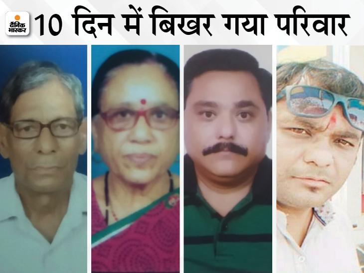 10 दिन पहले घर के मुखिया की मौत, 5 दिन बाद बेटों और 9 दिन बाद पत्नी ने दम तोड़ा; घर में बचे बहू और बच्चे... वो भी संक्रमित|भिलाई,Bhilai - Dainik Bhaskar
