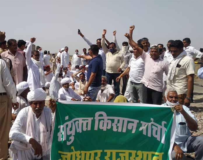 जोधपुर में किसानों ने जयपुर, नागौर व बाड़मेर रोड पर रास्ता रोक किया प्रदर्शन|जोधपुर,Jodhpur - Dainik Bhaskar