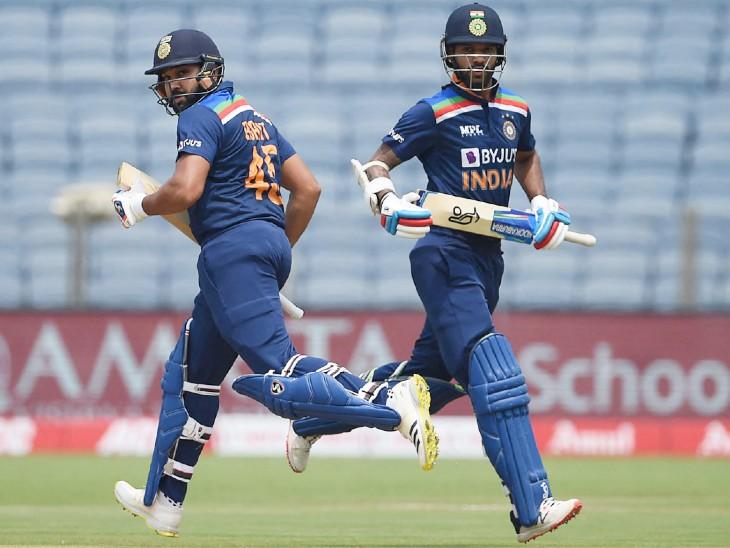 भारतीय ओपनर रोहित शर्मा 25 और शिखर धवन 4 रन बनाकर आउट हुए।