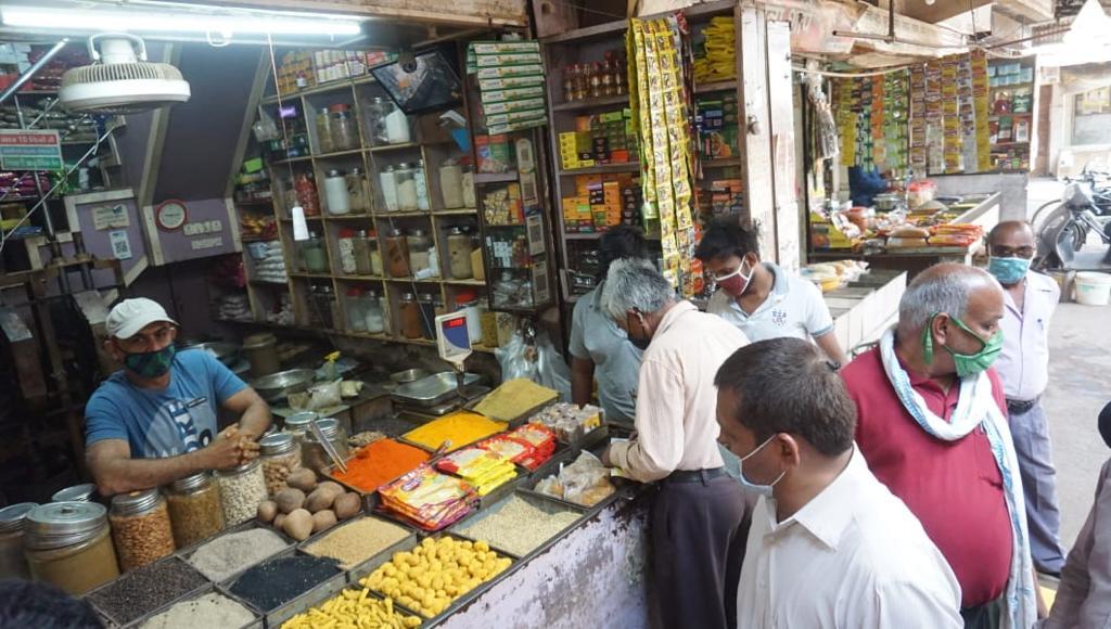 भिलाई के लिंक रोड व्यापारी संघ ने मार्केट खोलने का समय किया तय - Dainik Bhaskar
