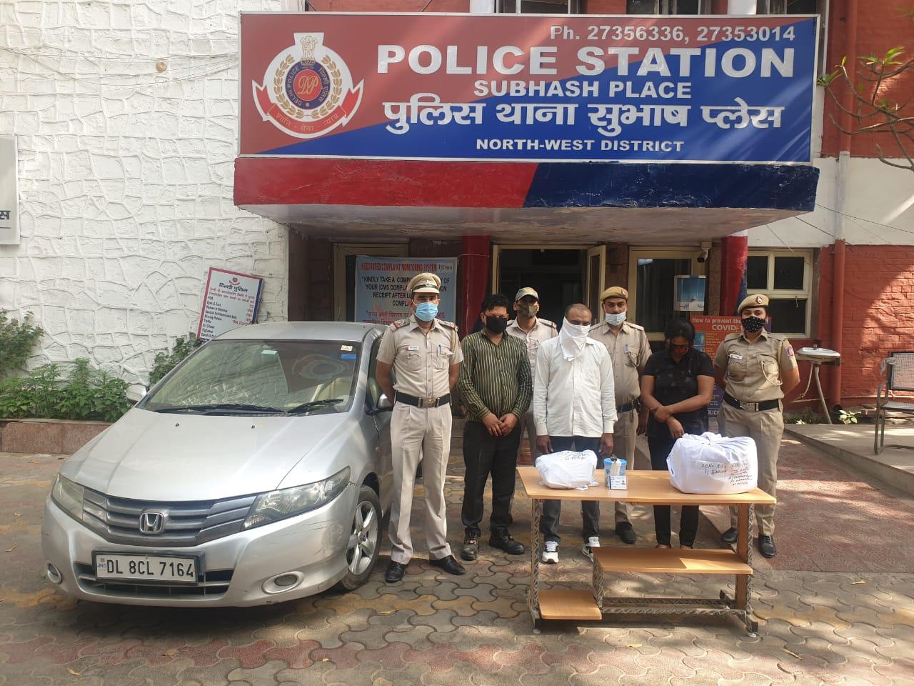 पुलिस की गिरफ्त में नकली CBI अधिकारी।