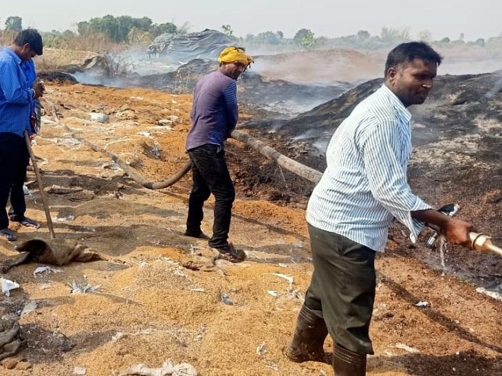 मुंगेली में गितपुरी धान संग्रहण केंद्र प्रभारी क्षेत्र सहायक सस्पेंड, 5 कर्मचारियों को भी नौकरी से निकाला गया छत्तीसगढ़,Chhattisgarh - Dainik Bhaskar