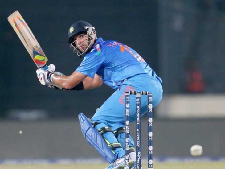 फाइनल मुकाबले में युवराज सिंह 21 गेंदों पर सिर्फ 11 रन बना सके।