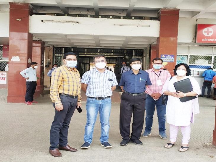 केंद्रीय टीम ने रायपुर में कोरोना से मौतों पर पूछे सवाल, डॉक्टरों ने कहा - हालत बेहद गंभीर होने पर अस्पताल पहुंच रहे हैं मरीज|रायपुर,Raipur - Dainik Bhaskar