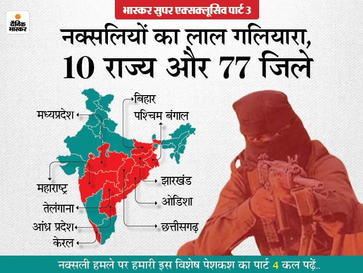 हर हमले के बाद खात्मे का दावा करती है सरकार, लेकिन बीजापुर अटैक दे रहा है नक्सलियों की मजबूती का सबूत|देश,National - Dainik Bhaskar