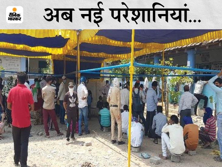 कोरोना के लक्षण वालों को सेंटर पर घंटों करना पड़ रहाइंतजार; सड़कों पर मेडिकल स्टोर, अस्पताल जाने वालों की भीड़|रायपुर,Raipur - Dainik Bhaskar