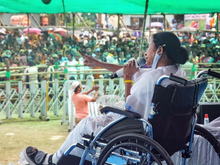 चुनाव आयोग ने ममता बनर्जी के प्रचार करने पर 24 घंटे की रोक लगाई, विरोध में धरने पर बैठेंगी दीदी|देश,National - Dainik Bhaskar