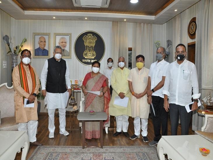 छत्तीसगढ़ में कांग्रेस ने केंद्र से मिले वेंटिलेटर को खराब बताया, अब राज्यपाल से जांच की मांग करने पहुंच गई भाजपा|रायपुर,Raipur - Dainik Bhaskar