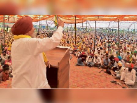 तलवंडी साबो कांफ्रेंस में हजारों किसानों ने शिरकत की, 21 को दिल्ली की ओर कूच|बठिंडा,Bathinda - Dainik Bhaskar