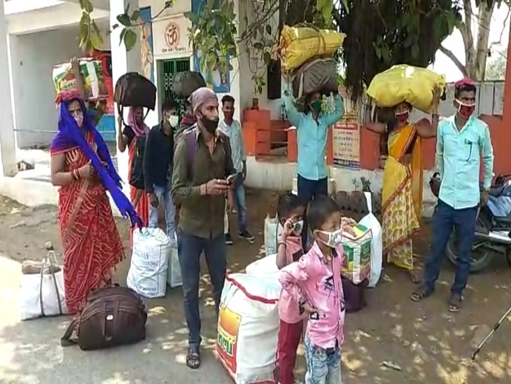 महाराष्ट्र, गुजरात, आंध्र प्रदेश से प्रवासी मजदूर अपने गांव लौटने शुरू हो गए हैं।